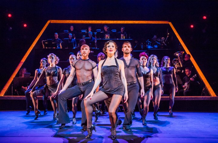 Josefina Gabrielle (Velma Kelly) and the ensemble of CHICAGO. Credit Tristram Kenton