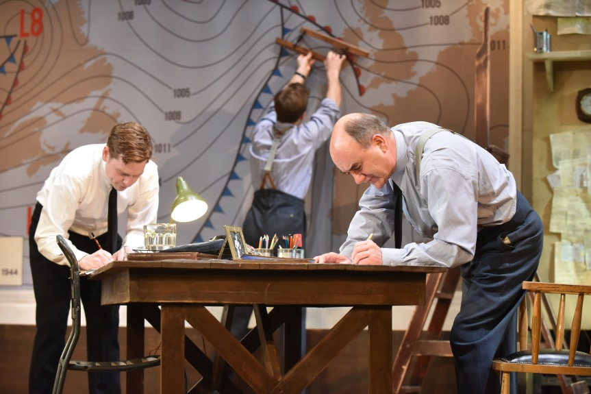 Robert Heard, Bert Seymour & David Haig (l-r) in Pressure. Photo by Robert Day