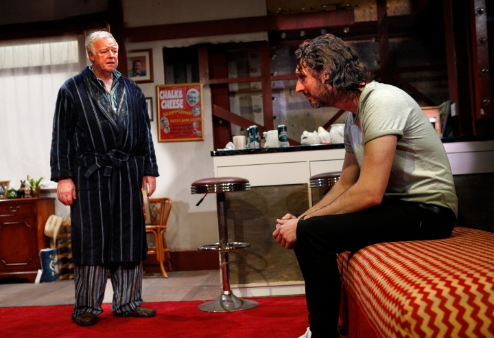 Les Dennis & Blake Harrison (l-r) in End of the Pier at Park Theatre. Photo by Simon Annand 0216