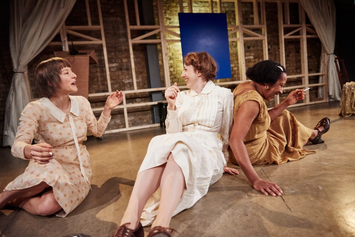 Emma D'arcy (Rezia), Clare Lawrence Moody (Sally) and Clare Perkins (Clarissa) (c) Ollie Grove