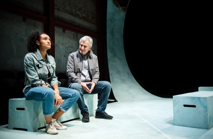 Natalie Simpson & Henry Goodman in Honour (Tiny Fires, Park Theatre). Photo by Alex Brenner