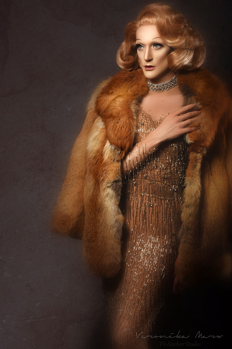 Peter Groom As Marlene Dietrich in DIETRICH NATURAL DUTY Photo by Veronika Marx small version