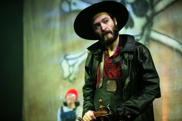 Alexander Vlahos (Captain Hook) in Peter Pan at Park Theatre. Photo credit - Chris Gardner
