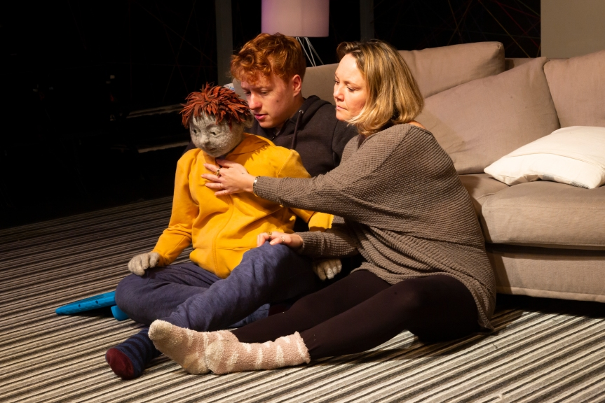 All in a Row. Hugh Purves (Laurence) & Charlie Brooks (Tamora). Credit - Nick Rutter