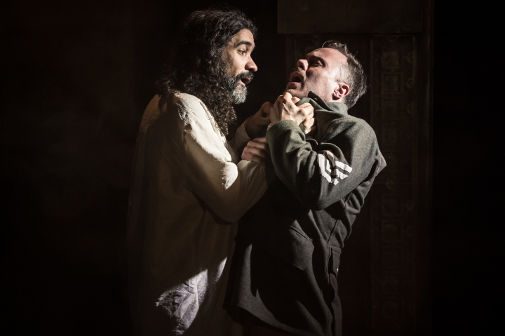 Matthew Wade (Othello) with Rikki Lawton (Iago)