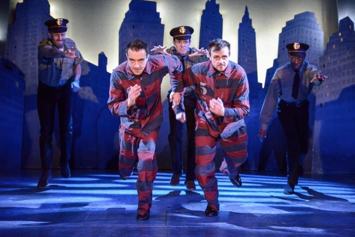 Jack Baldwin (Officer Shuck), Gareth Tempest (Mitch Ruscitti) , Finlay Paul, Chris Leask (Everyone else) and Jean-Luke Worrell (Warren Slax) - (c) Robert Day