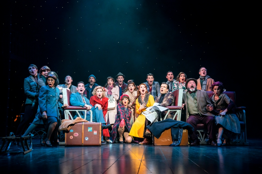 3. WHITE CHRISTMAS THE MUSICAL. The Company. Photo Johan Persson